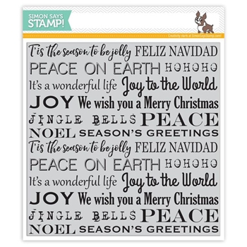 Simon Says Cling Stamps HOLIDAY BACKGROUND SSS101653 Believe In The Season