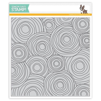 Simon Says Cling Stamps CIRCLE DOODLE BACKGROUND SSS101670 Believe In The Season