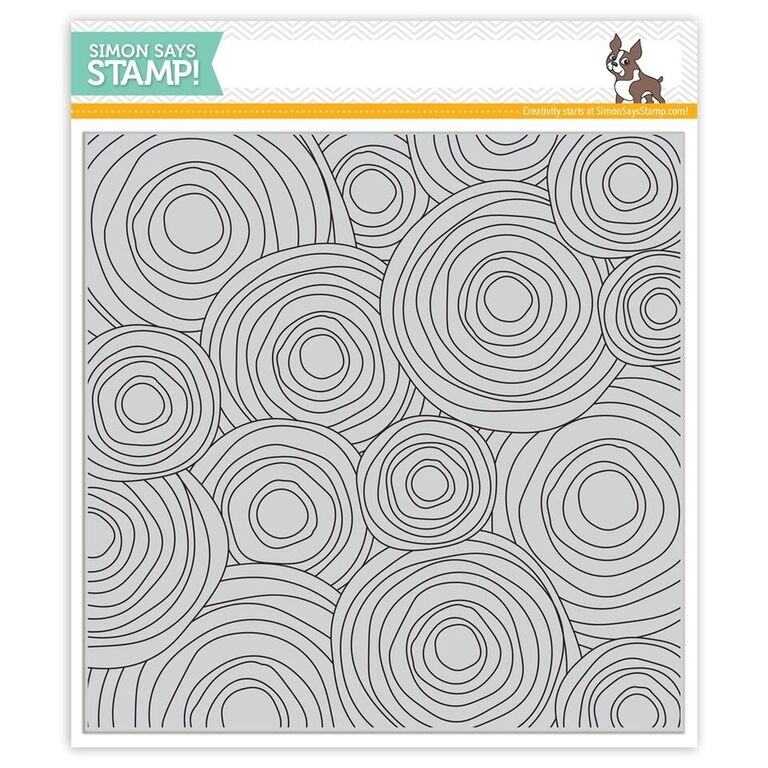 Simon Says Cling Stamps CIRCLE DOODLE BACKGROUND SSS101670 Believe In The Season zoom image
