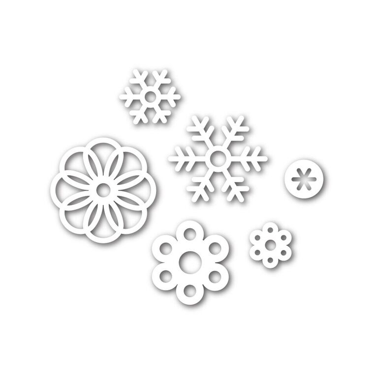 Simon Says Stamp SNOW FLURRIES Wafer Dies SSSD111637 Believe In The Season zoom image