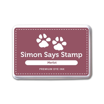Simon Says Stamp Premium Dye Ink Pad MERLOT INK074 Believe In The Season