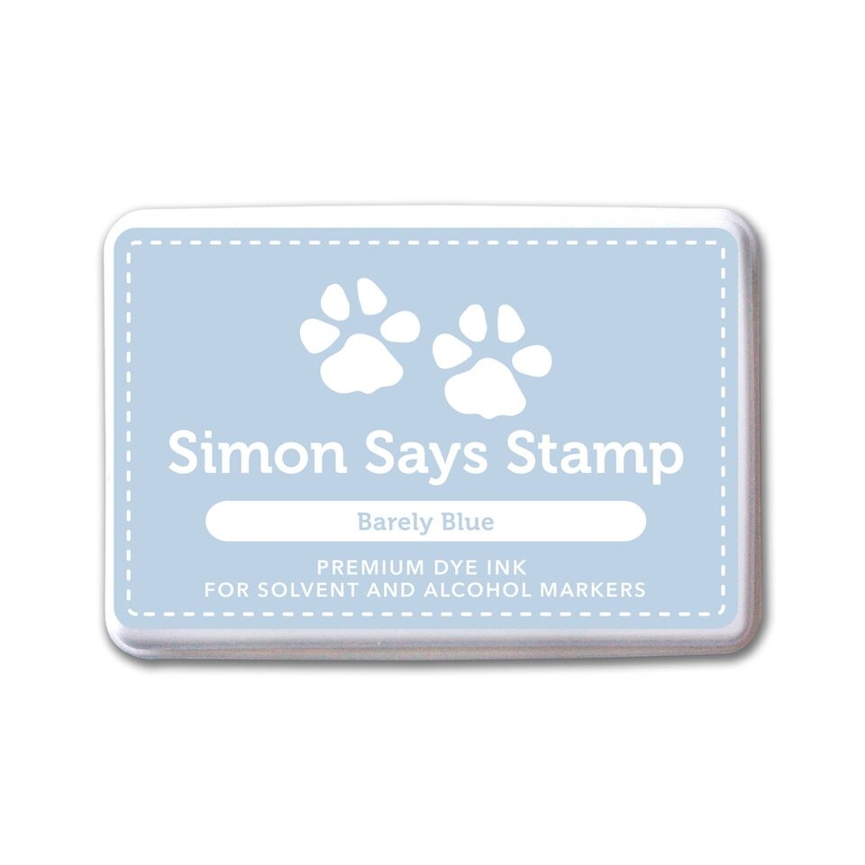 Simon Says Stamp Premium Ink Pad BARELY BLUE INK073 Believe In The Season zoom image