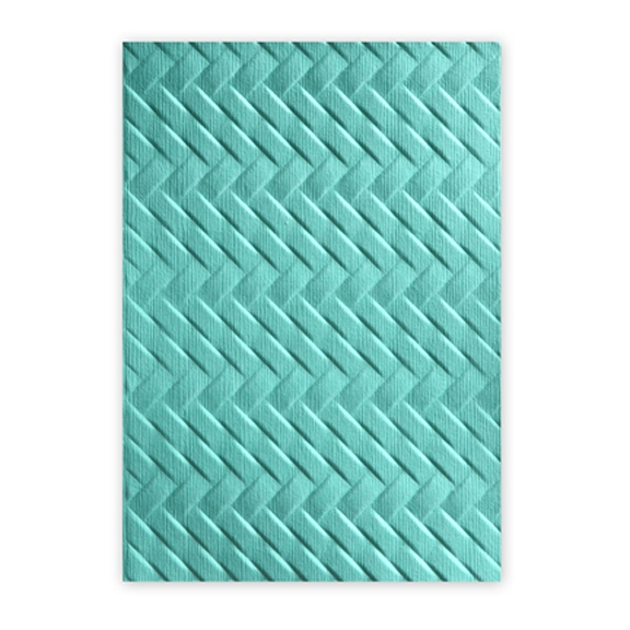 Sizzix Textured Impressions WOVEN 3D Embossing Folder 661261 zoom image