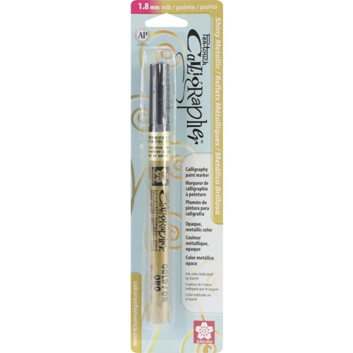Sakura GOLD METALLIC Pen Touch 1.8 Calligraphy Marker 47381 Preview Image