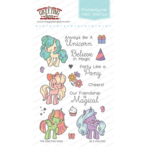 The Greeting Farm BE A UNICORN Clear Stamps TGF276 Preview Image