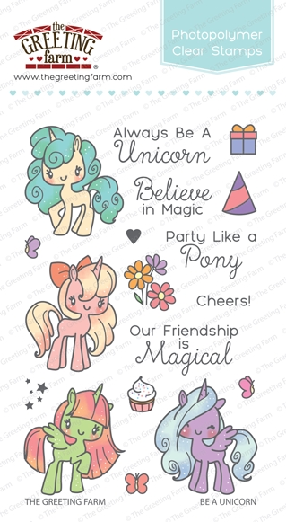 The Greeting Farm BE A UNICORN Clear Stamps TGF276 zoom image