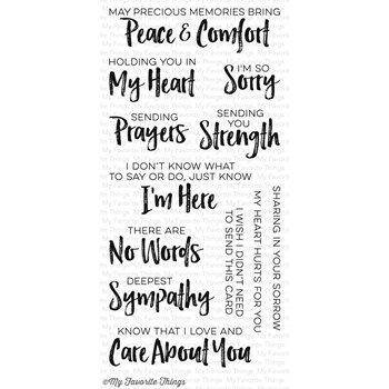 My Favorite Things DEEPEST SYMPATHY Clear Stamps CS156