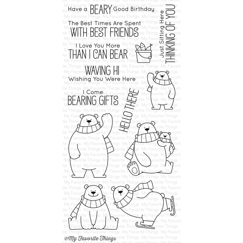 My Favorite Things POLAR BEAR PALS Clear Stamps BB40 zoom image