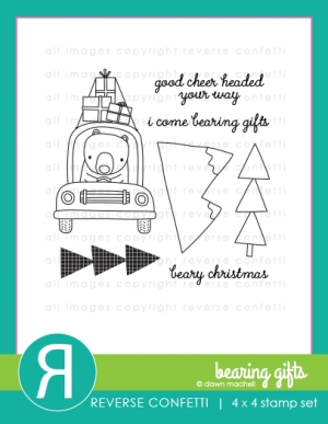 Reverse Confetti BEARING GIFTS Clear Stamp Set* Preview Image
