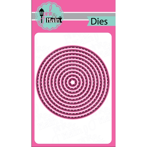 Pink and Main STITCHED CIRCLE Die Set PNM061 Preview Image