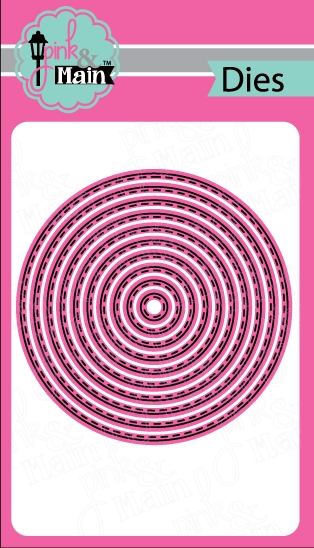 Pink and Main STITCHED CIRCLE Die Set PNM061 zoom image