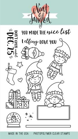 Neat and Tangled ELFS AND THEIR SHELF Clear Stamp Set NAT215 zoom image