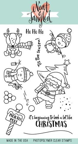 Neat and Tangled SANTA'S WONDERLAND Clear Stamp Set NAT220 zoom image