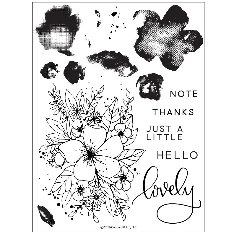 Concord & 9th HELLO LOVELY Clear Stamp Set 10135C9 zoom image