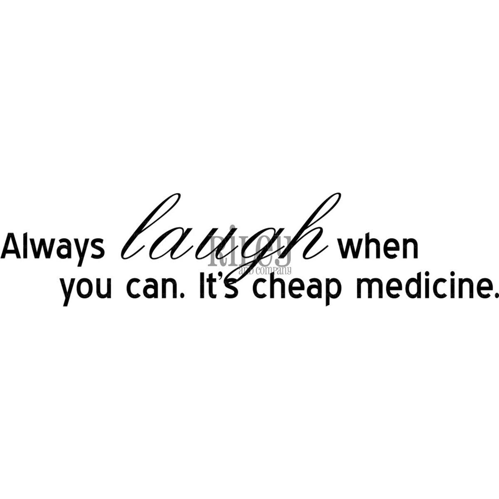 Riley and Company Funny Bones LAUGHTER IS CHEAP MEDICINE Cling Stamp Set RWD 548 zoom image