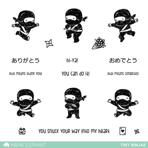 Mama Elephant Clear Stamps TINY NINJAS Preview Image