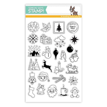 Simon Says Clear Stamps ADVENT HOLIDAY ICONS SSS101683 *