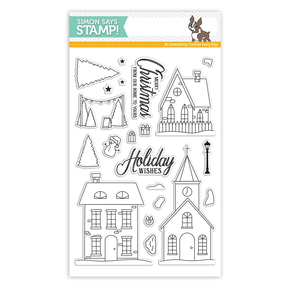 Simon Says Clear Stamps CHRISTMAS TOWN SSS101685 Advent zoom image