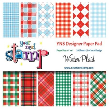 Your Next Stamp WINTER PLAID 6X6 Paper Pack YNSPP005