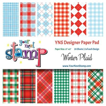 Your Next Stamp WINTER PLAID 6X6 Paper Pack YNSPP005 zoom image