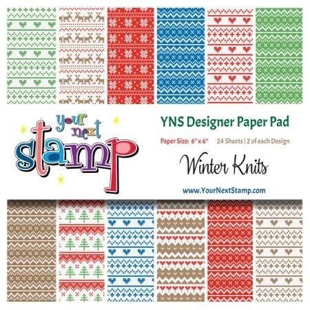 Your Next Stamp WINTER KNITS 6X6 Paper Pack YNSPP004 Preview Image