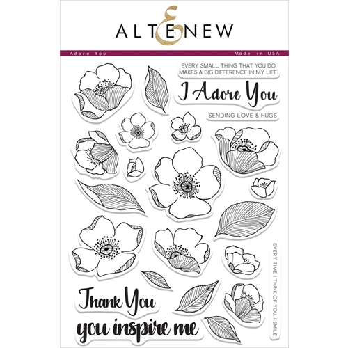 Altenew ADORE YOU Clear Stamp Set ALT1483* Preview Image