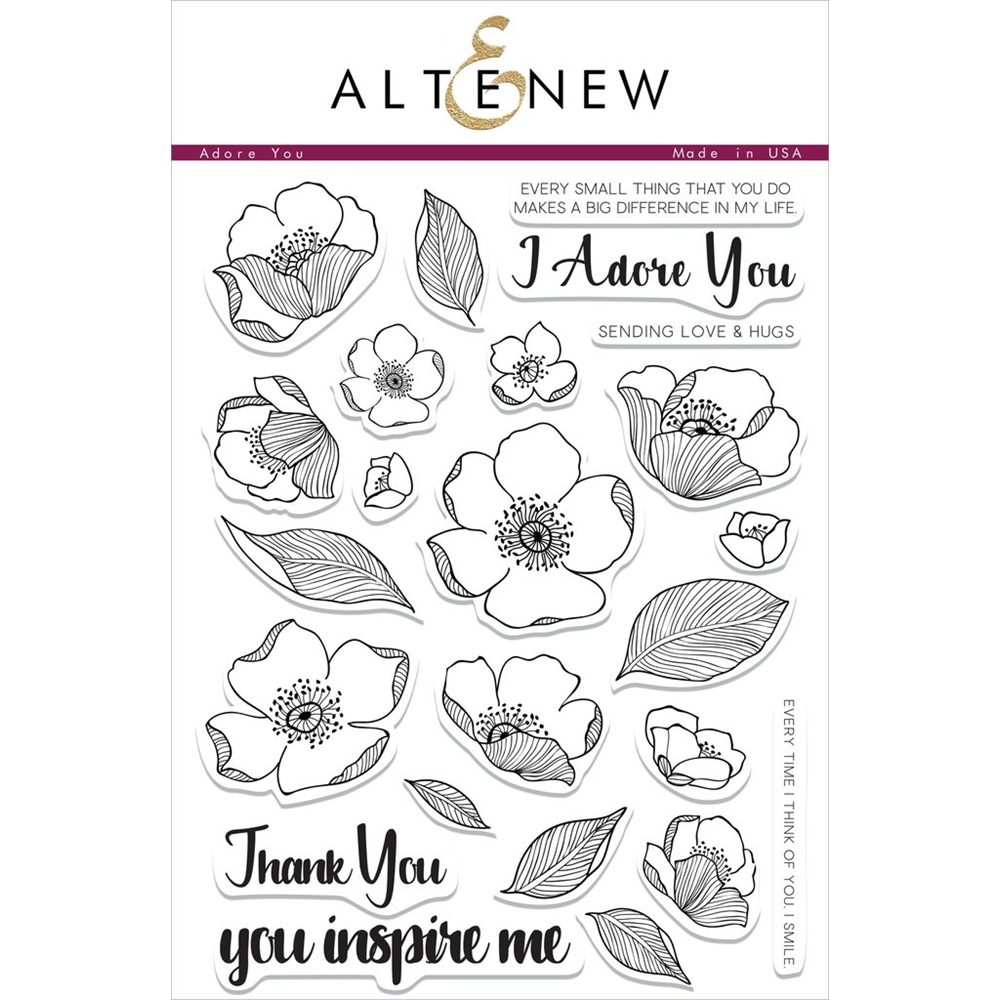 Altenew ADORE YOU Clear Stamp Set ALT1483* zoom image