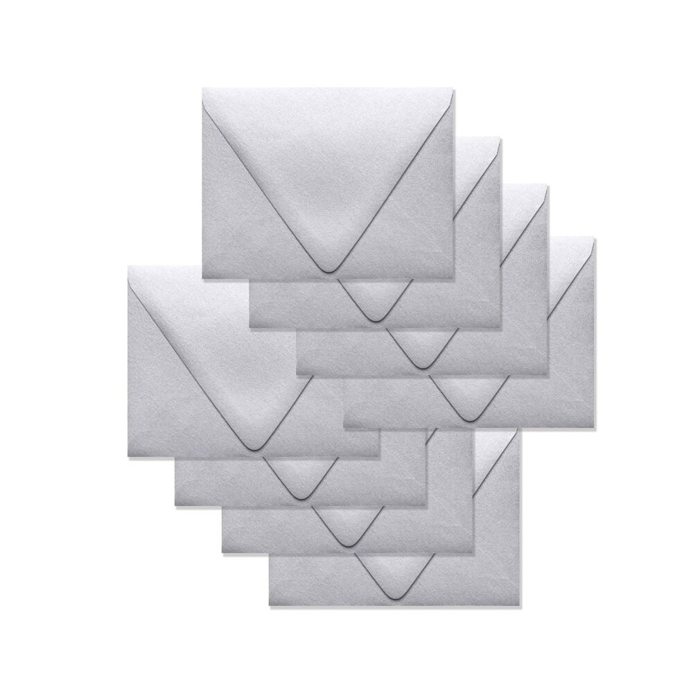 Simon Says Stamp Envelopes V FLAP METALLIC SILVER SSSE52 zoom image