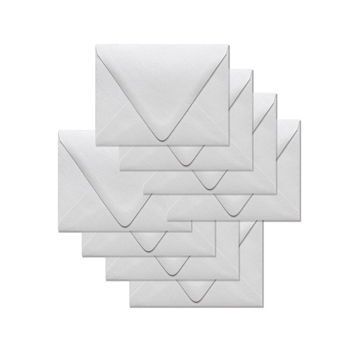 Simon Says Stamp Envelopes V FLAP METALLIC WHITE SSSE54