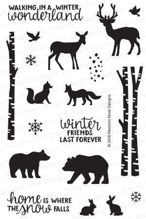Newton's Nook Designs SERENE SILHOUETTES Clear Stamp Set 20161102 zoom image