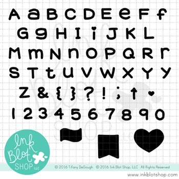 Ink Blot Shop Clear Stamp Set CHUNKY ALPHABET SOLID INBL003