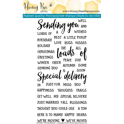 Honey Bee SENDING YOU SENTIMENTS Clear Stamp Set HBST-037 Preview Image