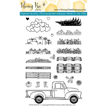 Honey Bee LITTLE PICKUP Clear Stamp Set HBST-036