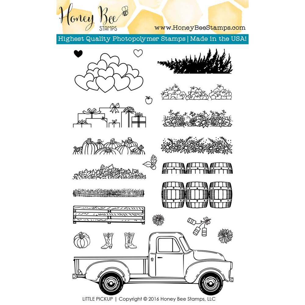 Honey Bee LITTLE PICKUP Clear Stamp Set HBST-036 zoom image