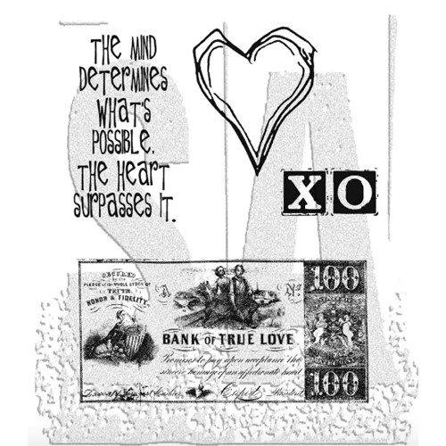 Tim Holtz Cling Rubber Stamps FROM THE HEART Love CMS006 Preview Image