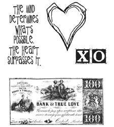 Tim Holtz Cling Rubber Stamps FROM THE HEART Love Stampers Anonymous CMS006*