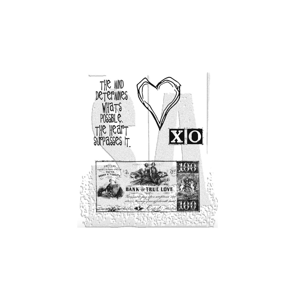 Tim Holtz Cling Rubber Stamps FROM THE HEART Love CMS006 zoom image