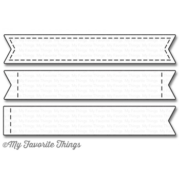 My Favorite Things STITCHED SENTIMENTS STRIPS Die-Namics MFT1028