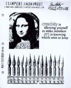Tim Holtz Cling Rubber Stamps MONA'S SKETCHBOOK Stampers Anonymous CMS010