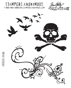 Tim Holtz Cling Rubber Stamps ANTHOLOGY CMS026 zoom image
