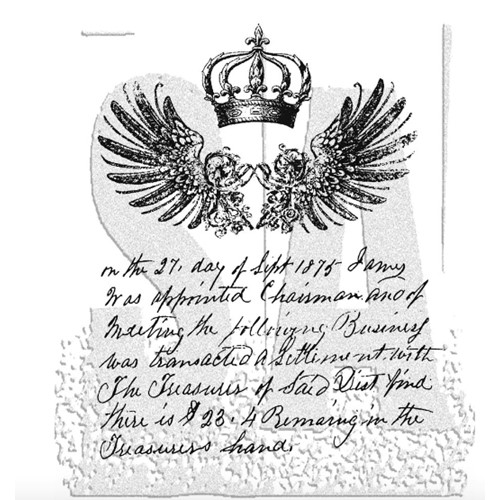 Tim Holtz Cling Rubber Stamps ROYAL SCRIPT CMS016  Preview Image