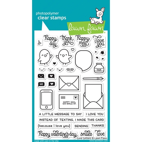 Lawn Fawn LOVE LETTERS Clear Stamps LF1292 Preview Image