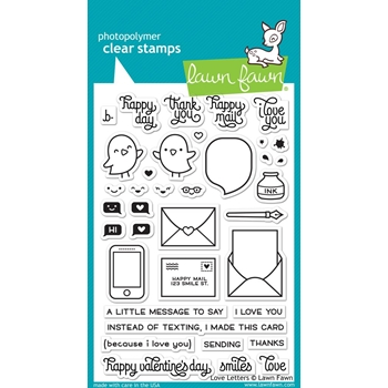 Lawn Fawn LOVE LETTERS Clear Stamps LF1292