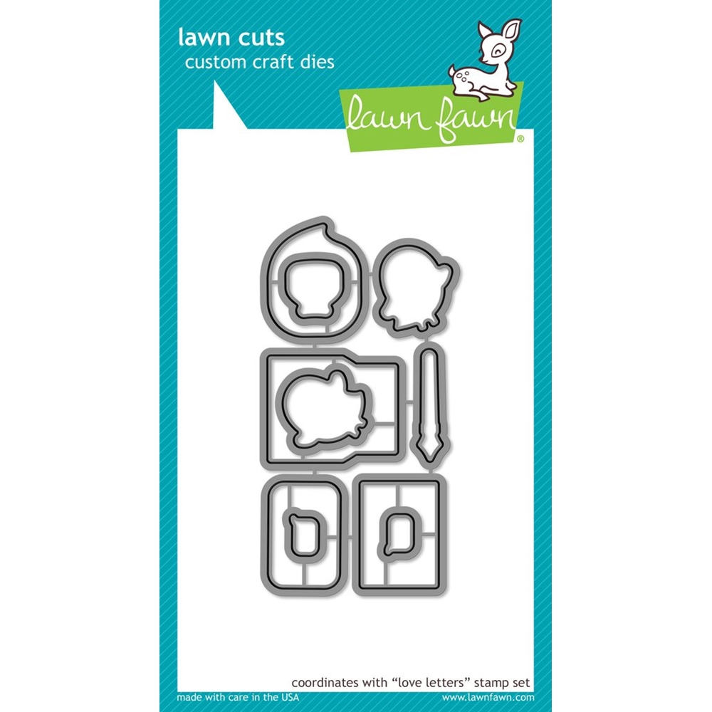 Lawn Fawn LOVE LETTERS Lawn Cuts Dies LF1293 zoom image