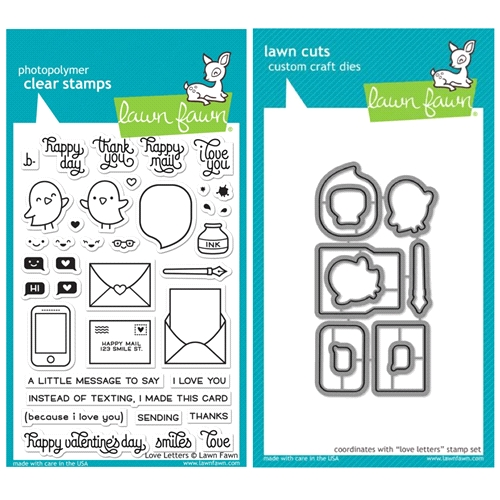 Lawn Fawn Set VLF16SETLL LOVE LETTERS Clear Stamps and Dies Preview Image