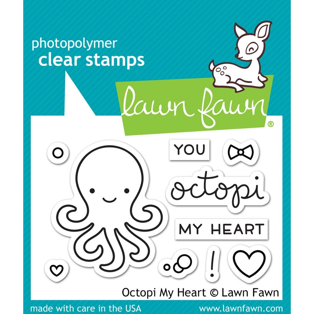 Lawn Fawn OCTOPI MY HEART Clear Stamps LF1295 zoom image