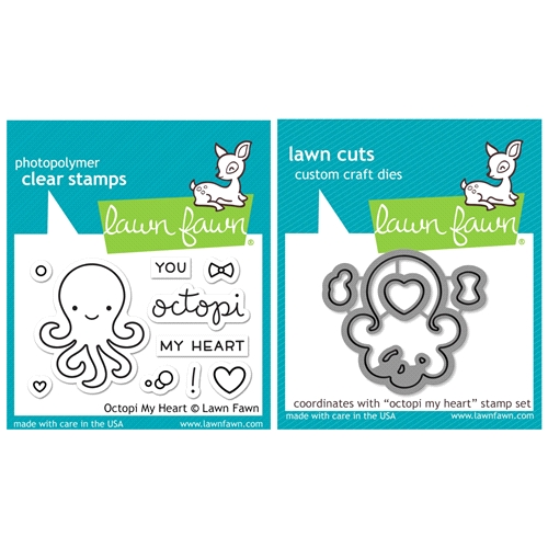 Lawn Fawn Set VLF16SETOMH OCTOPI MY HEART Clear Stamps and Dies Preview Image