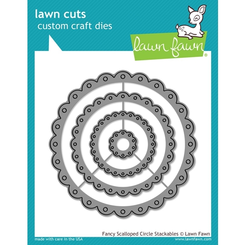 Lawn Fawn FANCY SCALLOPED CIRCLE STACKABLES Lawn Cuts Dies LF1321 Preview Image