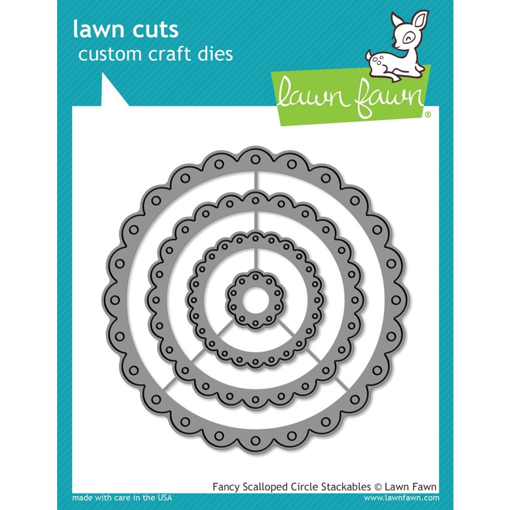 Lawn Fawn FANCY SCALLOPED CIRCLE STACKABLES Lawn Cuts Dies LF1321 zoom image