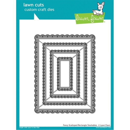 Lawn Fawn FANCY SCALLOPED RECTANGLE STACKABLES Lawn Cuts Dies LF1322 Preview Image